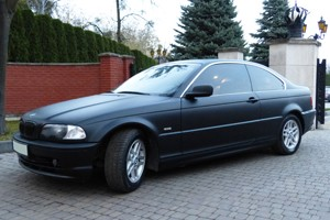 bmw e46 coupe plivka black matt tv